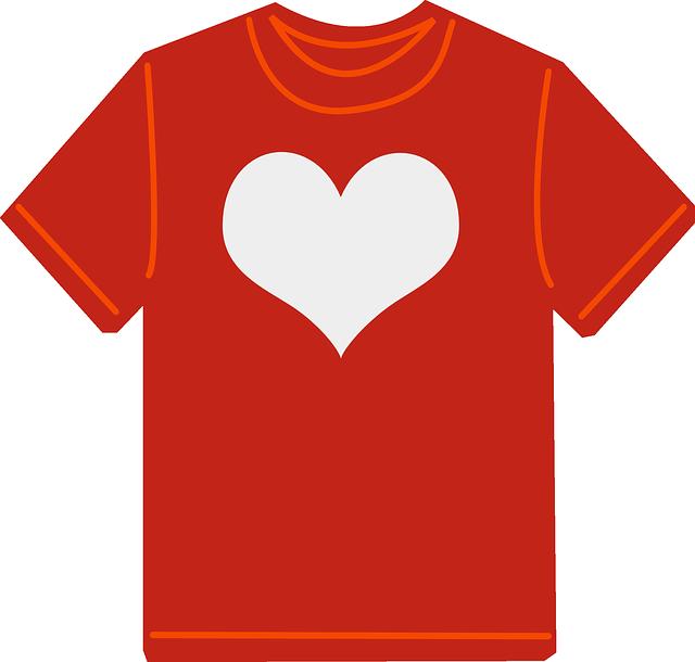 i tričkem lze vyjádřit lásku