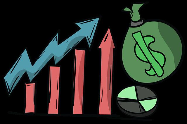 finanční růst, graf, ilustrace
